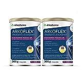 Arkopharma Arkoflex Colágeno Limón Pack 60 Días 40% Descuento Segunda Unidad | Bote 360 Gr | Buen Funcionamiento De Huesos, Cartílagos Y Piel| Ácido Hialurónico, Magnesio Y Vitamina C, color Blanco