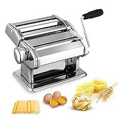 Pasta Machine Pasta Maker rostfritt stål Fresh Manuell Pasta Roller Machine Cutter med klämma för Spaghetti NoodleLaslasgne Bästa Pasta Machine Pasta Machine Gift, Enkel rengöring och användning