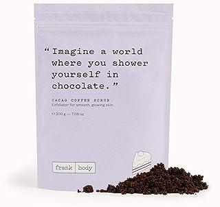 Frank body cacao coffee scrub exfoliator for smooth, glowing skin 200g