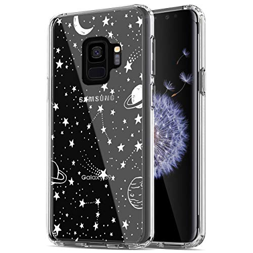 RANZ Galaxy S9 Case, Anti-Scratch Shockproof Series Clear Hard PC+ TPU Bumper Protective Cover Case for Samsung Galaxy S9 - Universe