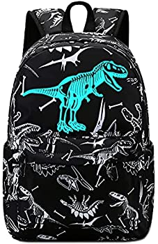 Toddler Kids Backpack for Boys Luminous Dinosaur Preschool Kindergarten School Backpack Bookbag School Bag with Chest Strap  Tyrannosaurus Rex Black