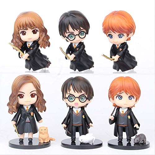 rtyug 6pcs/lot 10cm Big Eyes Potter Weasley Ron Snape Pvc Model Collection Christmas Toys Action Figure Toys For Children