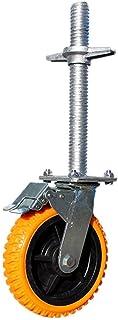 Mobiele steiger Swivel Caster Wielen, Industriële Castor met Rem, Polyurethaan vervangende wielen, Hefmoer, Capaciteit 60...