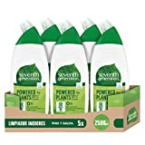 Seventh Generation Pino & Salvia - Limpiador WC, 0% Blanqueantes, Fragancias Sintéticas y Colorantes, 5 Recipientes de 500 ml, Total: 2500 ml