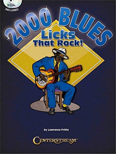 centerstream edición 2000Blues Licks que Rock libro/3CDS