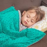 Roore 5 lb Weighted Blanket for Kids I 36'x48' I Weighted Blanket with Plush Minky Teal Removable Cover I Weighted with Premium Glass Beads I Perfect for Children from 40 to 60 lb
