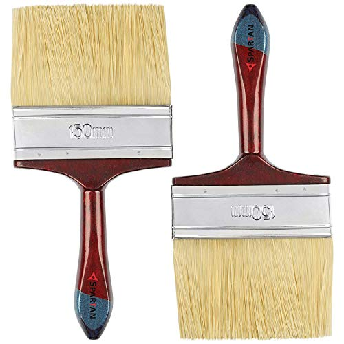 SPARTAN Paint Brush with Multicolour Handle (150 mm/6 Inch) - Pack of...
