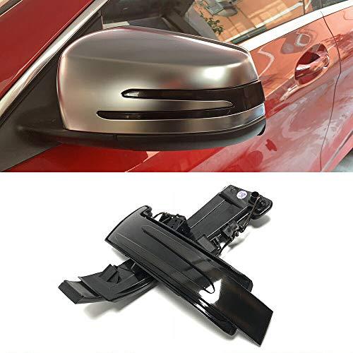 Rückspiegelleuchte, 1 Paar dynamisch fließende LED-Blinkerleuchte Seitenspiegelanzeige für Benz W176 W204 W212 C117 W221