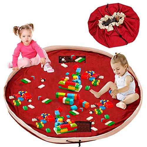 Aufräumsack Kinder Lego Sack Spielzeug Beutel Spielzeugsack Aufbewahrung Tasche Baumwolle XXL Teppich Unterlage 150cm