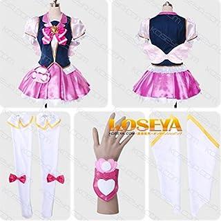 実物撮影 コスプレ衣装   ハピネスチャージプリキュア☆キュアハート   オーダーサイズ可能