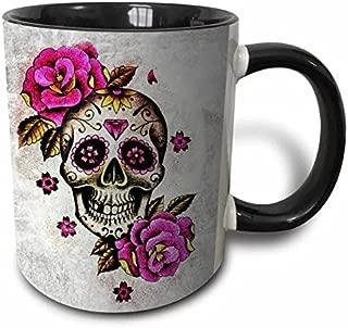 Multicolor Mugs 11 Fl Sweet Gisele Floral Print Coffee Cup Sugar Skull Ceramic Mug Day of the Dead Design Oz Great Novelty Gift Multicolored Beautiful Vivid Colors