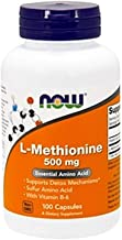 NOW Supplements, L-Methionine 500 mg with Vitamin B-6, Supports Detoxification*, Amino Acid, 100 Capsules