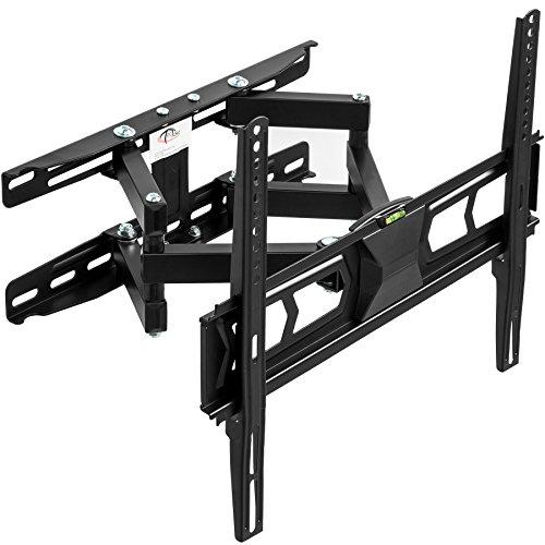 TecTake 401801 TV Wandhalterung, neigbar schwenkbar, VESA 150x150 bis 400x400, für 82-140cm (32 - 55