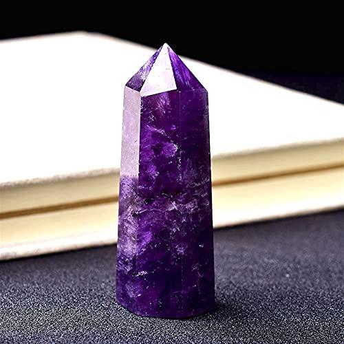BEISHI Piedra curativa Punto de Amatista Natural Cristal CUANTE Energía de la energía Cuarzo Natural Decoración del hogar Reiki Crafts pulidos 50-80mm de Piedra Tallada 1pc