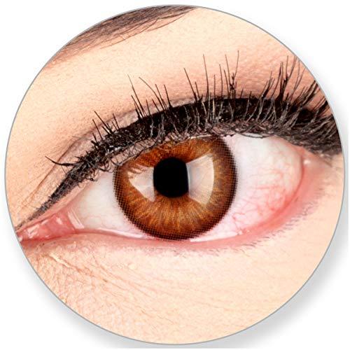 Glamlens SILICONE COMFORT SOFT Braune Kontaktlinsen Elly Hazel ohne Stärke-für Blaue Grüne Dunkelbaune Braune Schwarze Helle Augen. 2 Farbige Braune 3 Monatslinsen - by MeralenS - 0.0 Dioptrien