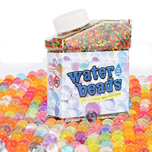 HOSPAOP Wasserperlen für Kinder, Orbeez Aqualinos Wasserperlen - 50000 Stücke, Wasserperlen Spielzeug ungiftig Gelperlen Wasserkugeln Dekoration für Hochzeit, Party,Blumen Pflanzen,DIY Geschenk
