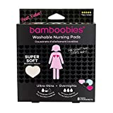 Bamboobies Washable Nursing Pads For Breastfeeding Variety Pack  Reusable Breast Pads  4 Pairs  3 Regular Pairs + 1 Overnight Pair   Multi-Color