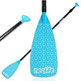 Neolife Carbon Fiber SUP Paddle, Adjustable 3-Piece Stand Up Paddle Board Paddle Nylon Blades