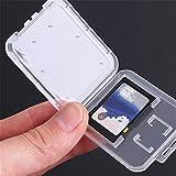 10個ミニCuteTransparent標準SDカードホルダークリアメモリーカードケースポータブルプラスチックSDカードストレージホルダー用品