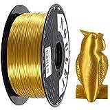 Noulei PLA 金属の光沢 3Dプリンターフィラメント 1kg スプール 1.75mm (シルク金 Gold)