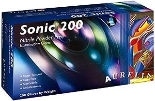 Sonic 200 9377A5 - Guantes de nitrilo sin polvo (200
