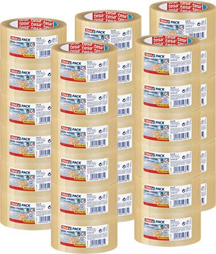 30 Rollen tesa Ultra Strong Packband (aus PVC mit besonders starker Klebekraft, 66 m x 50 mm) transparent