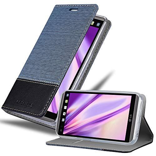 Cadorabo Hülle für LG V20 in DUNKEL BLAU SCHWARZ - Handyhülle mit Magnetverschluss, Standfunktion & Kartenfach - Hülle Cover Schutzhülle Etui Tasche Book Klapp Style