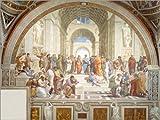 Poster 70 x 50 cm: Die Schule von Athen von Raffael -