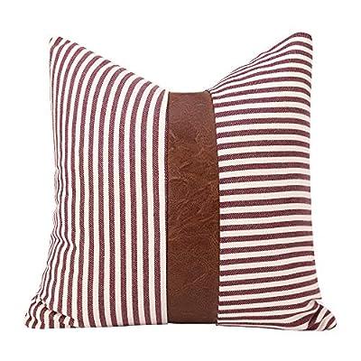 Amazon - Save 60%: cygnus Farmhouse Decorative Throw Pillow Covers Ticking Stripe Stit…
