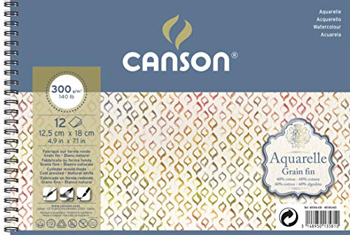 Alb Esp 12x18 12H Canson Aquarelle 60% Fino 300g
