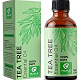 100% Pure Tea Tree Oil Natural Essential Oil with Antifungal Antibacterial Benefits for Face Skin...