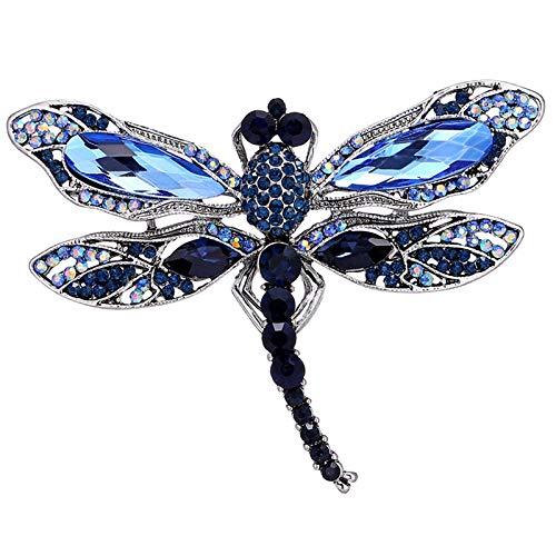 Tiamu Moda Vintage Broches de Libélula para Mujer Broches Grandes de Insectos Accesorios de La Capa de Vestido Joyería Linda Regalos