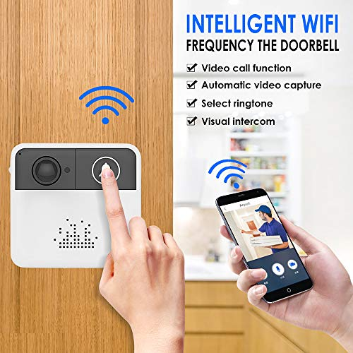 Intelligente Deurbel, Thuis Wifi Visuele Ring Camera Draadloos High-Definition Nachtzicht Beveiligingssysteem Automatisering Module-Met Dingdong Machine