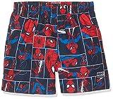 Speedo - Costume a pantaloncino da ragazzo Marvel Spiderman, Ragazzi, Spiderman Navy/Lava Red, 3 anni