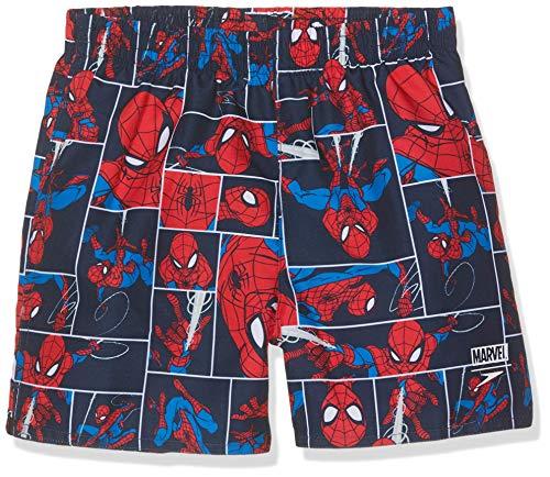 Speedo - Costume a pantaloncino da ragazzo Marvel Spiderman, Ragazzi, 805394C887, Spiderman Navy Lava Red, 4 anni