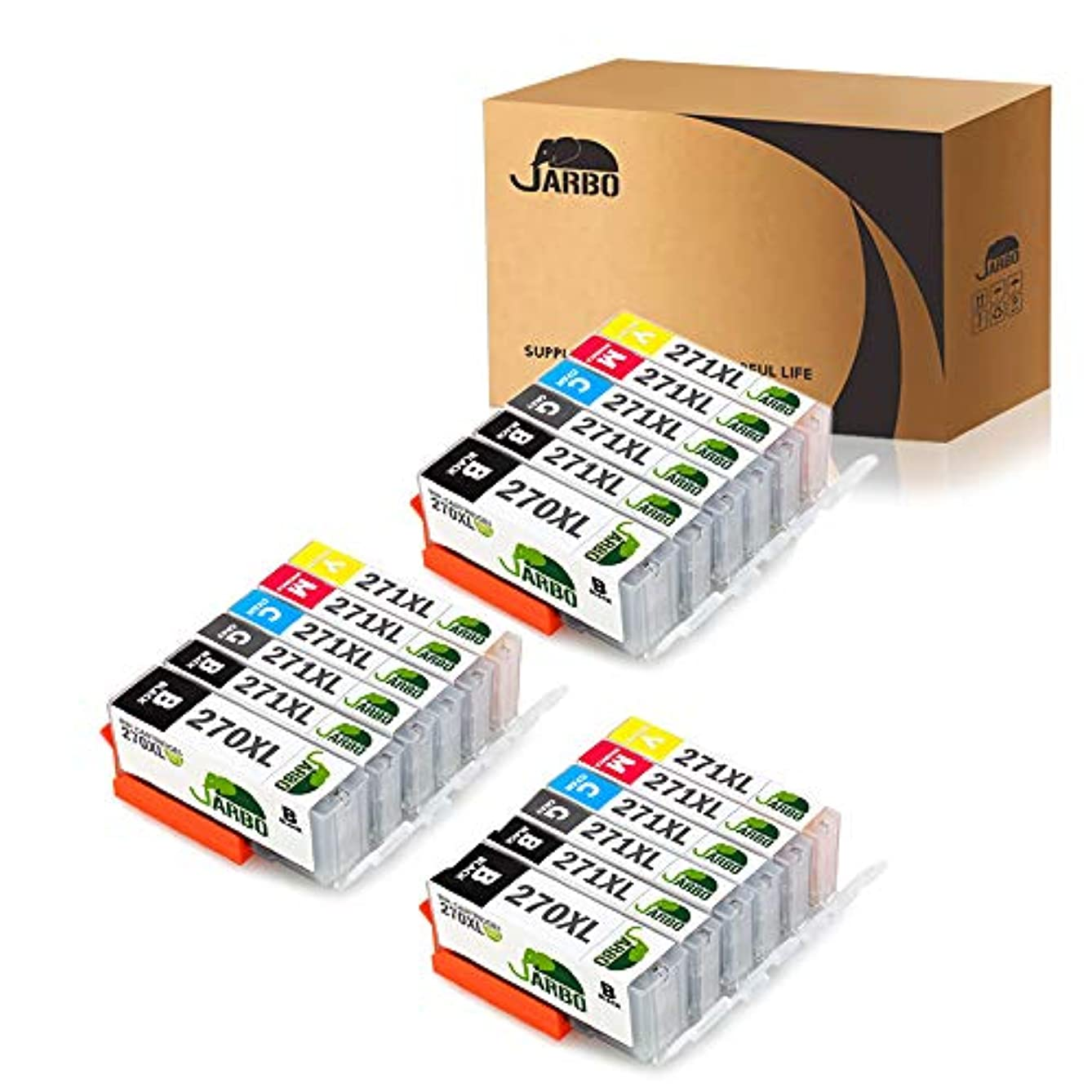 Compatible for Canon MG7720 TS9020 TS8020 Printer, JARBO Compatible Ink cartridges Replacement for Canon PGI-270XL CLI-271XL, 6 Color, 3 Sets(3 PGBK, 3 Black, 3 Grey, 3 Cyan, 3 Magenta, 3 Yellow)