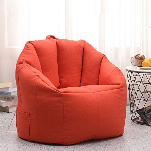 Tbaobei-Baby Divano Bean Bag Chair for Kids Gigante Riempito di Gomma Piuma Mobili Ragazzi e Adulti 3 Colori Pigro Bean Bag Flessibile (Color : Red, Size : Free Size)