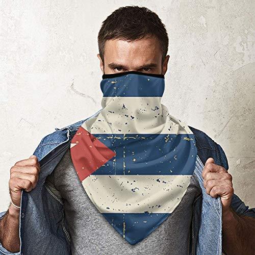 Máscara de pasamontañas retro de la bandera cubana para protección contra el viento UV sombrero para ciclismo moto esquí