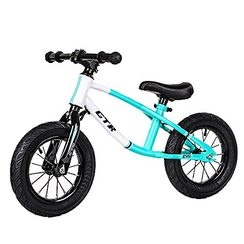 LTTA Kinderfahrrad12-Zoll-Balancen-Fahrrad 2-6 Jährige No-Fuß Kleinkind zweirädrigem Adjustable Walking Training,Blau