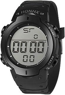 ساعة رياضية رقمية للرجال من السيليكون من هونكس - XYQ610291-21BK