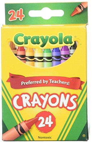 Crayola 24 Count Box of Crayons Non-Toxic Color Coloring School Supplies (2 Packs)