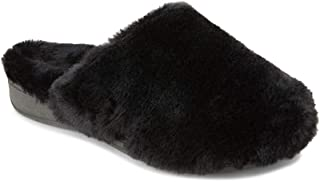 Vionic Women's Indulge Gemma Plush Slipper - Ladies Adjustable Mule Slipper with Concealed Orthotic Arch Support