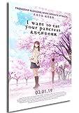 Instabuy Poster Cartel de pelicula - Quiero comerme tu páncreas (Cartel 70x50)