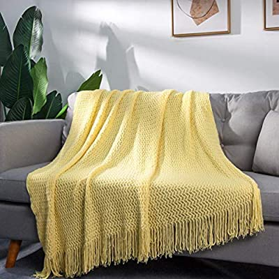Amazon - Save 50%: LALIFIT Throw Blanket with Tassel Solid Soft Sofa Couch Cover Decoration…