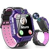 Kids Smartwatch Phone IP67 Waterproof LBS Tracker for Boys Girls 4-12 Age Smart Watch with SOS...