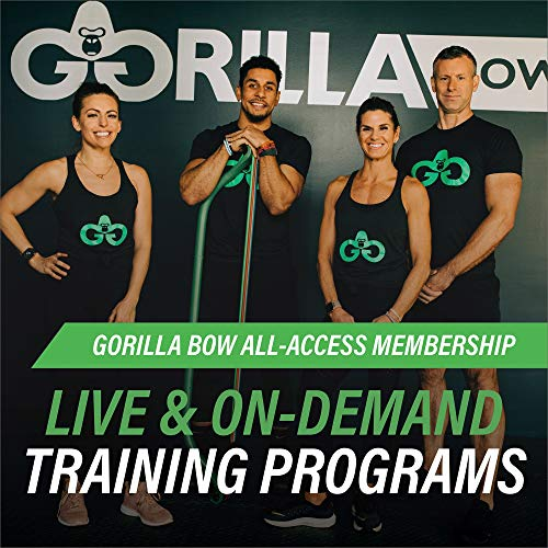 Gorilla Bow Portable Home Gym Resistance Bands and Bar System for Travel, Fitness, Weightlifting and Exercise Kit, Full Body Workout Equipment Set (Travel Bow - Black)