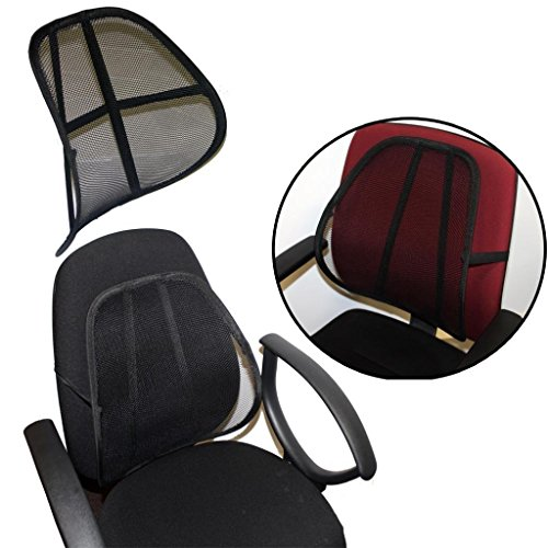 Best Practical Car Seat Chair Massage Back Lumbar Support Mesh Ventilate Cushion
