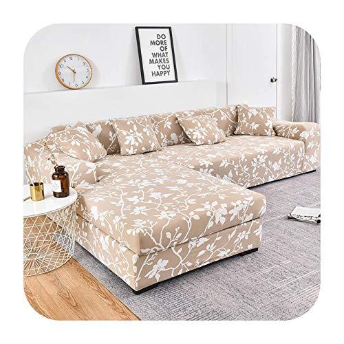 ZaHome Funda de sofá de esquina con patrón floral para sala de estar, funda elástica para sofá seccional, sofá chaise necesita comprar 2 piezas Cove-Color12-2 plazas y 4 plazas