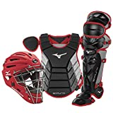 Mizuno Samurai Adult Baseball Boxed Catcher's Gear Set , Black-Cardinal, 15' Men's Adult