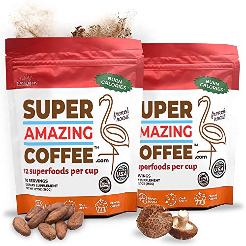 Superfoods Company Super Amazing Coffee, Instant Coffee, 60 Servings, Supports Metabolism, Brain Function, Appetite Suppression and More